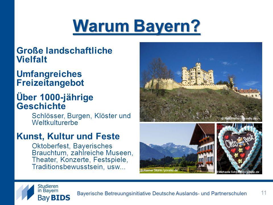 Warum Bayern Große landschaftliche Vielfalt