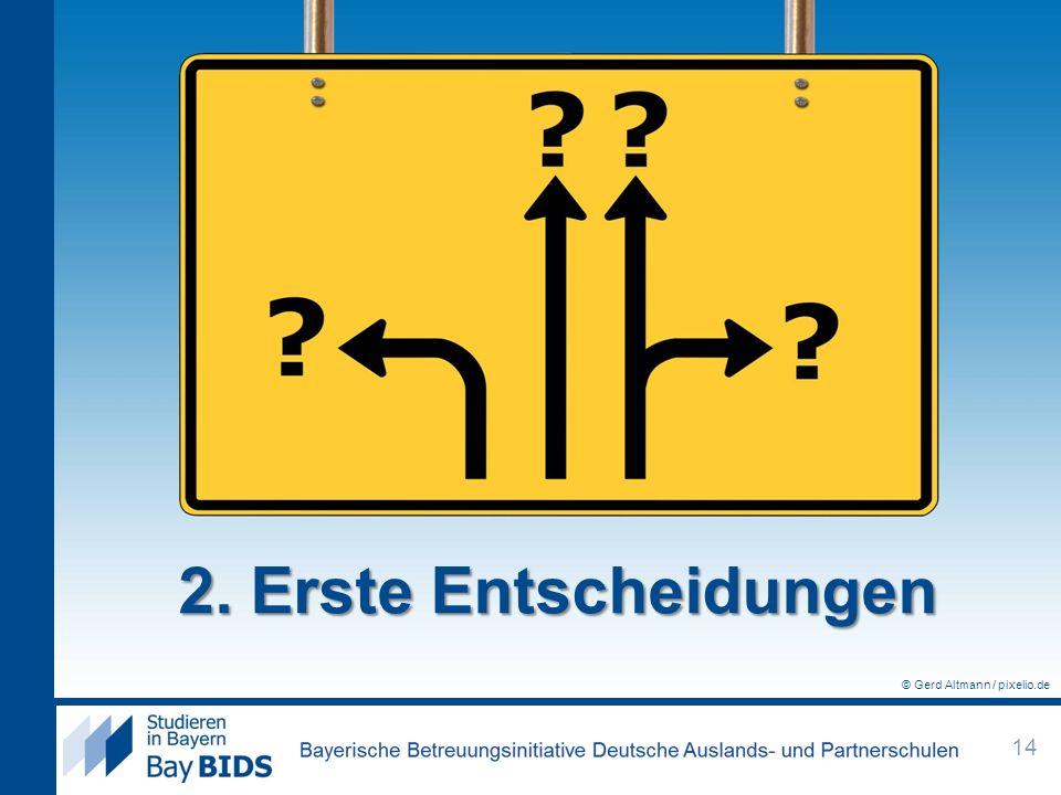 2. Erste Entscheidungen © Gerd Altmann / pixelio.de