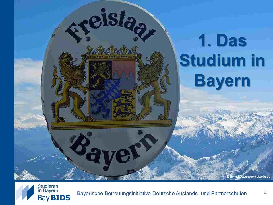 1. Das Studium in Bayern © Bernd Deschauer / pixelio.de