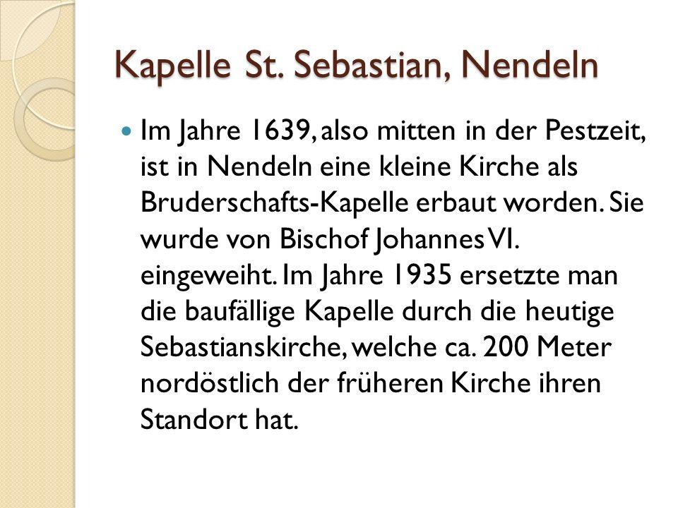 Kapelle St. Sebastian, Nendeln
