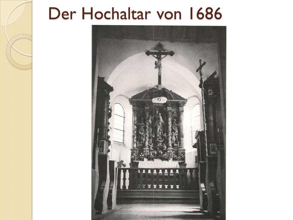 Der Hochaltar von 1686