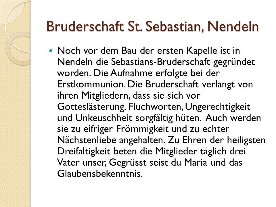 Bruderschaft St. Sebastian, Nendeln