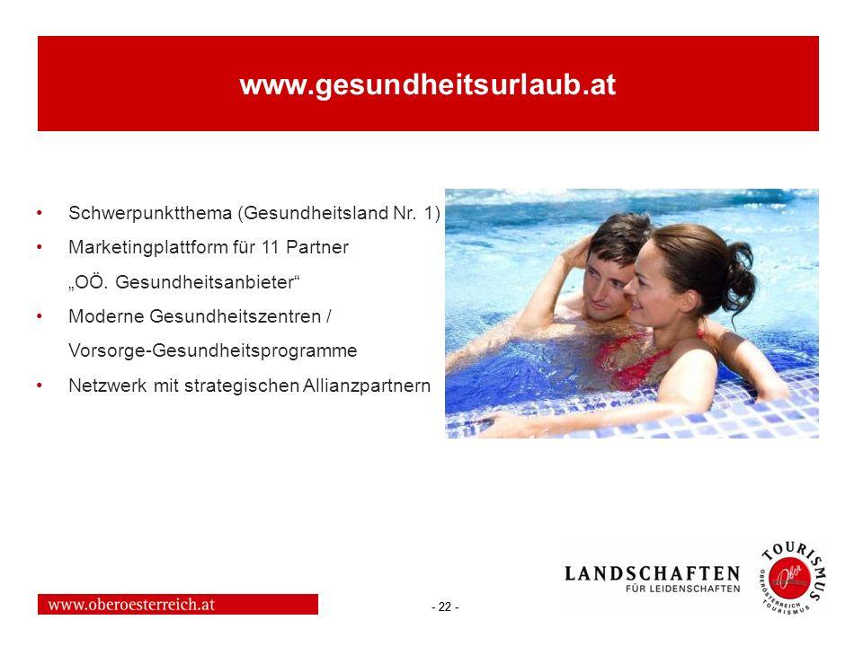 www.gesundheitsurlaub.at Schwerpunktthema (Gesundheitsland Nr. 1)