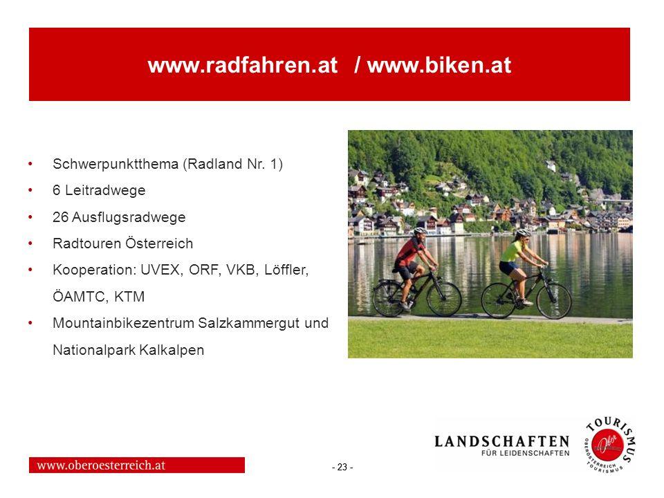 www.radfahren.at / www.biken.at