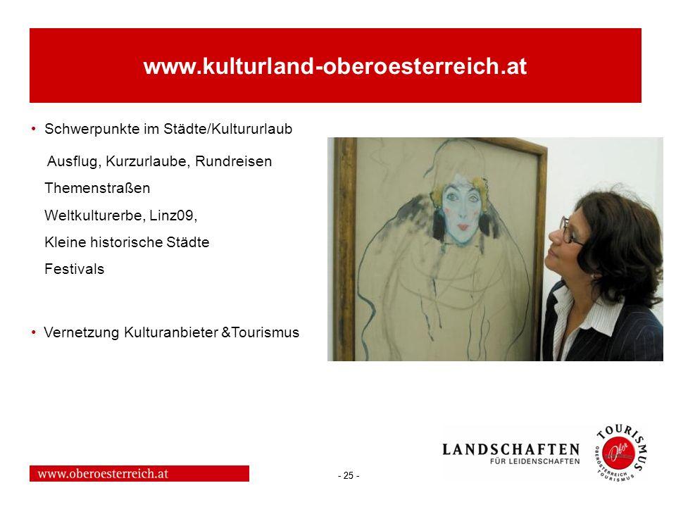 www.kulturland-oberoesterreich.at Schwerpunkte im Städte/Kultururlaub