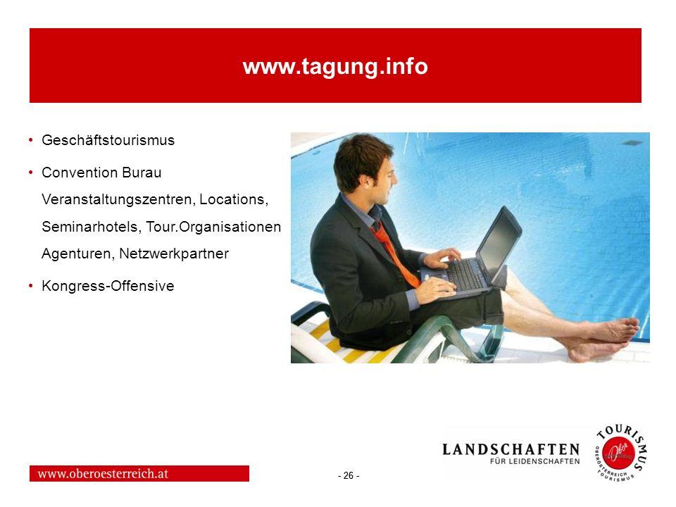 www.tagung.info Geschäftstourismus