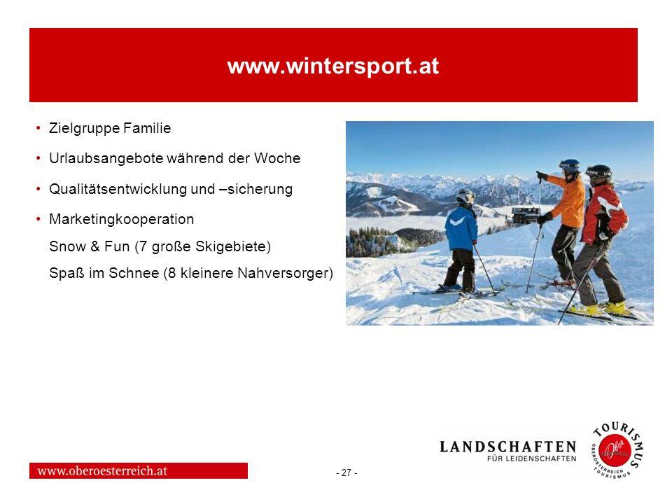 www.wintersport.at Zielgruppe Familie