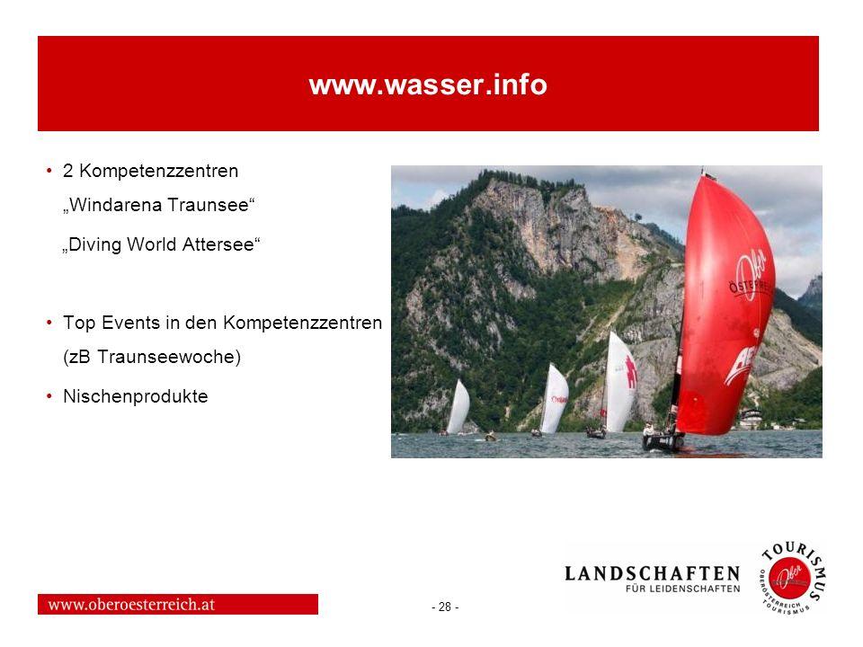 """www.wasser.info 2 Kompetenzzentren """"Windarena Traunsee"""
