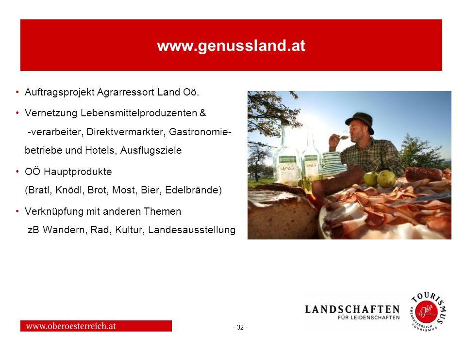 www.genussland.at Auftragsprojekt Agrarressort Land Oö.