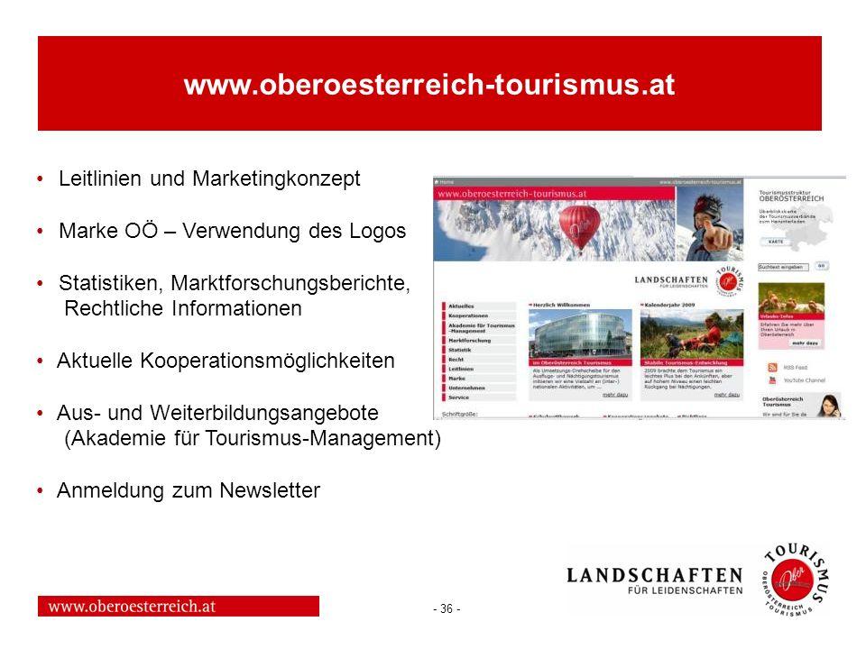 www.oberoesterreich-tourismus.at Leitlinien und Marketingkonzept