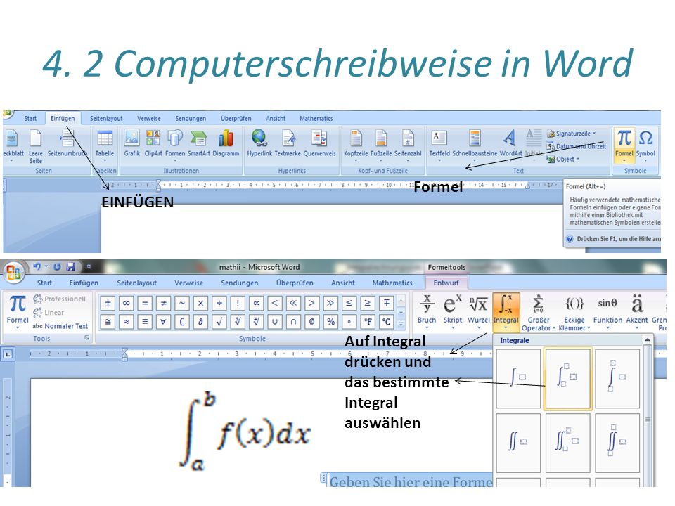 4. 2 Computerschreibweise in Word