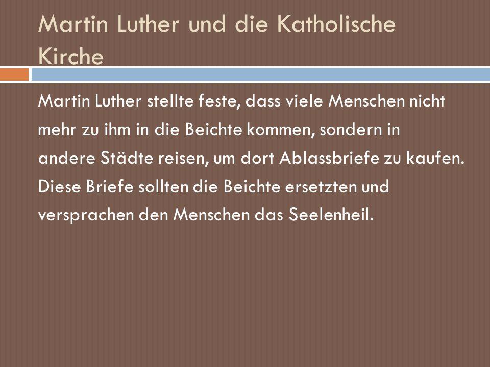 Martin Luther und die Katholische Kirche
