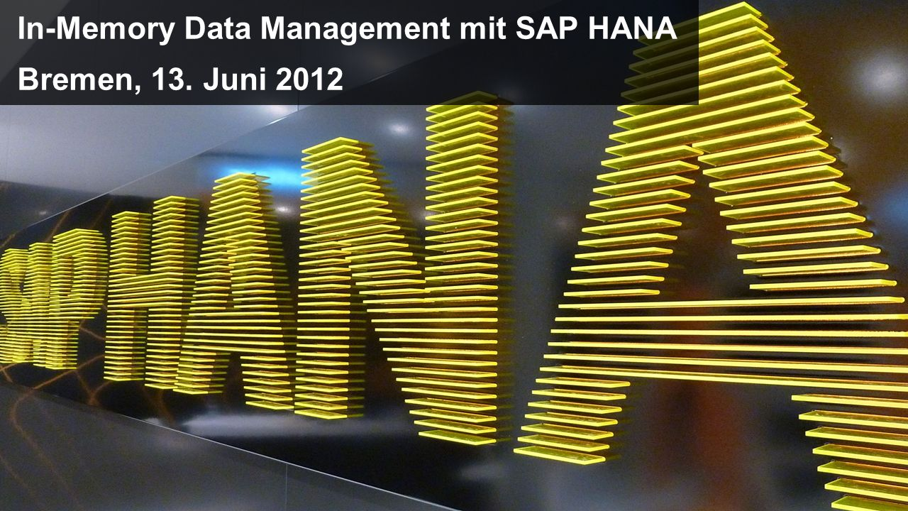 In-Memory Data Management mit SAP HANA