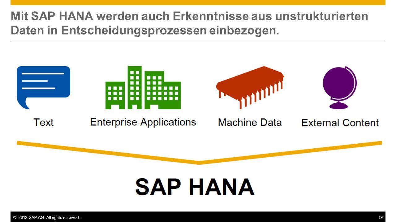 Mit SAP HANA werden auch Erkenntnisse aus unstrukturierten Daten in Entscheidungsprozessen einbezogen.
