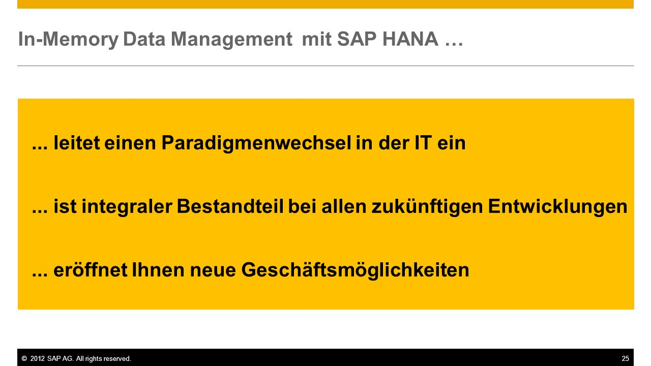In-Memory Data Management mit SAP HANA …