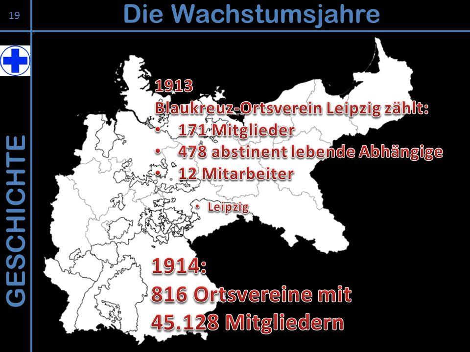 Die Wachstumsjahre GESCHICHTE 1914: 816 Ortsvereine mit