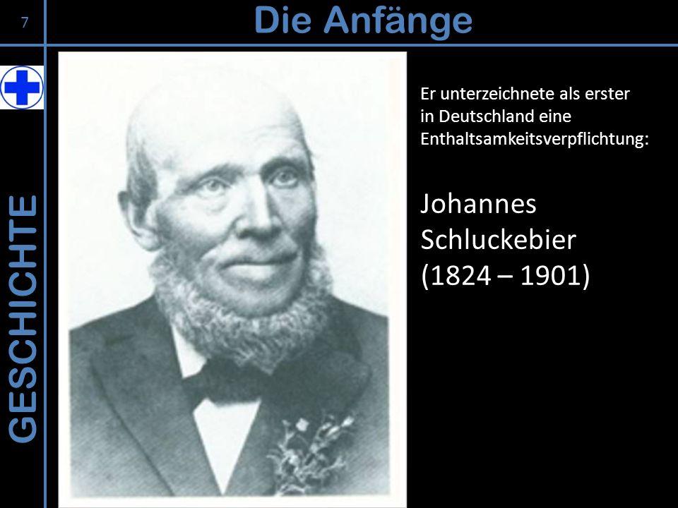 Die Anfänge GESCHICHTE Johannes Schluckebier (1824 – 1901)