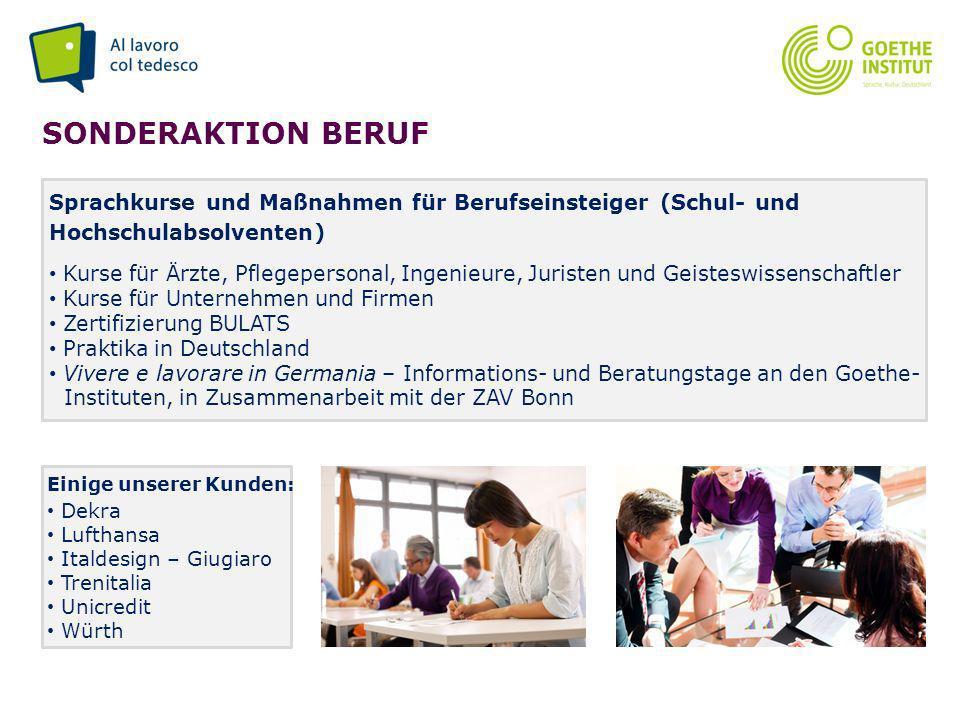 Sonderaktion beruf Sprachkurse und Maßnahmen für Berufseinsteiger (Schul- und Hochschulabsolventen)