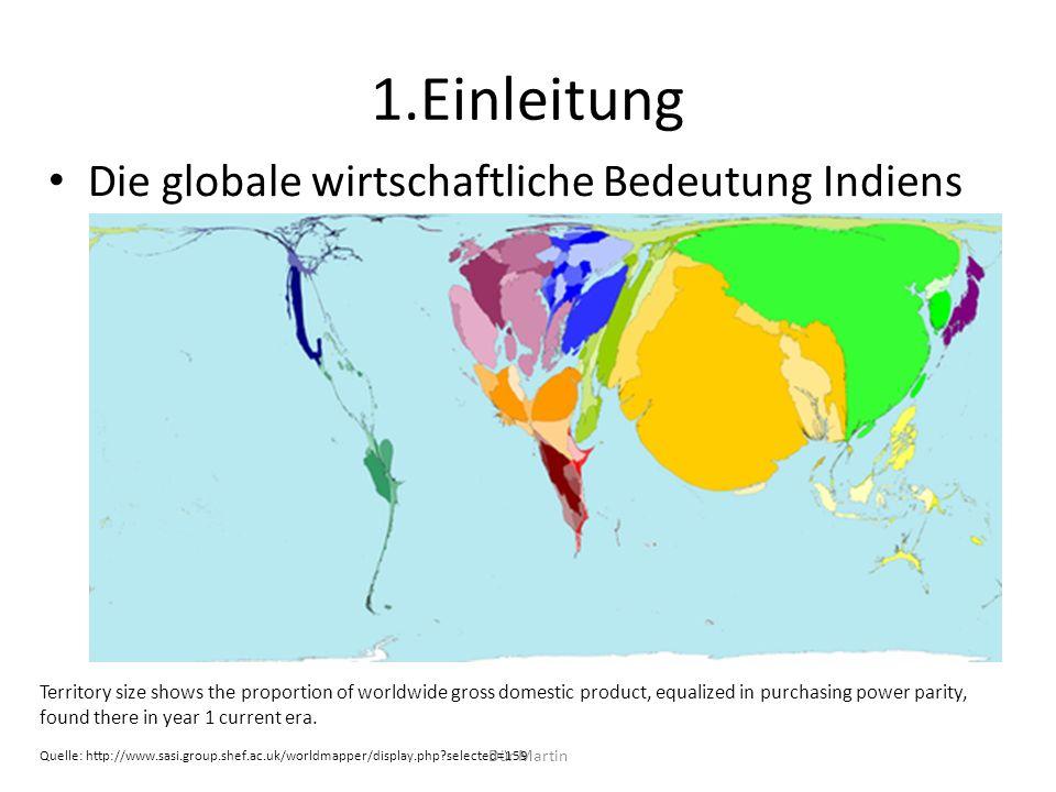 1.Einleitung Die globale wirtschaftliche Bedeutung Indiens