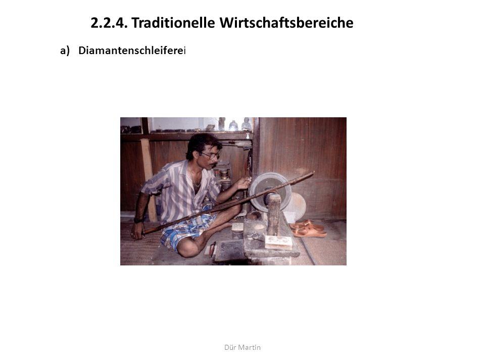 2.2.4. Traditionelle Wirtschaftsbereiche