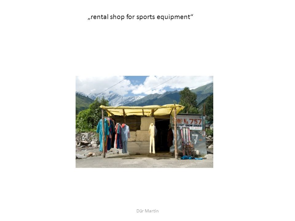 """rental shop for sports equipment"