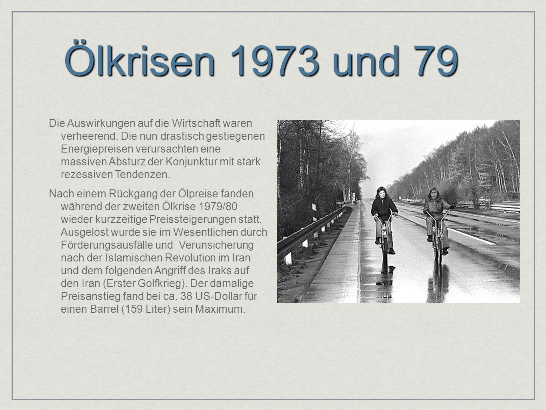 Ölkrisen 1973 und 79