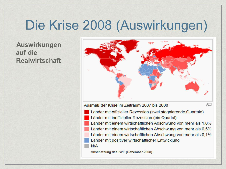 Die Krise 2008 (Auswirkungen)
