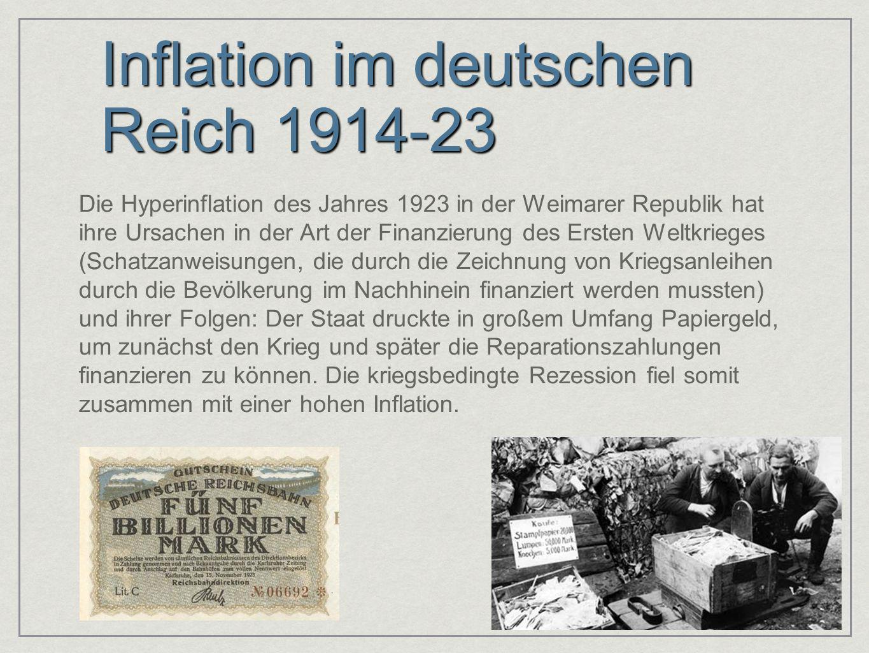 Inflation im deutschen Reich 1914-23