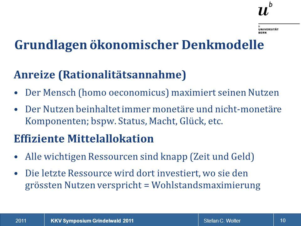 Grundlagen ökonomischer Denkmodelle