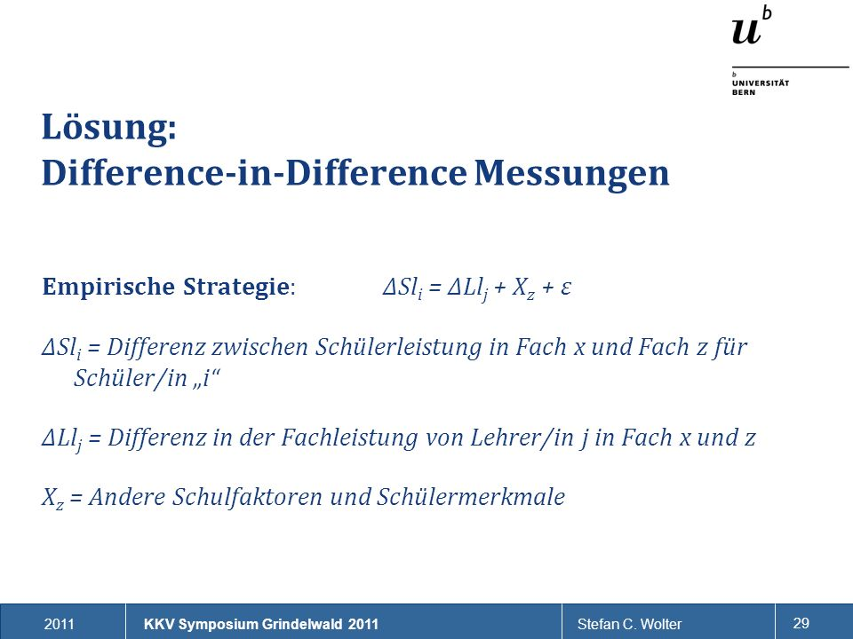 Lösung: Difference-in-Difference Messungen