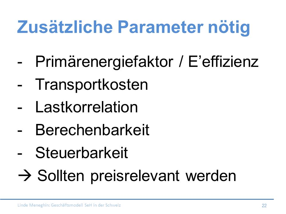 Zusätzliche Parameter nötig