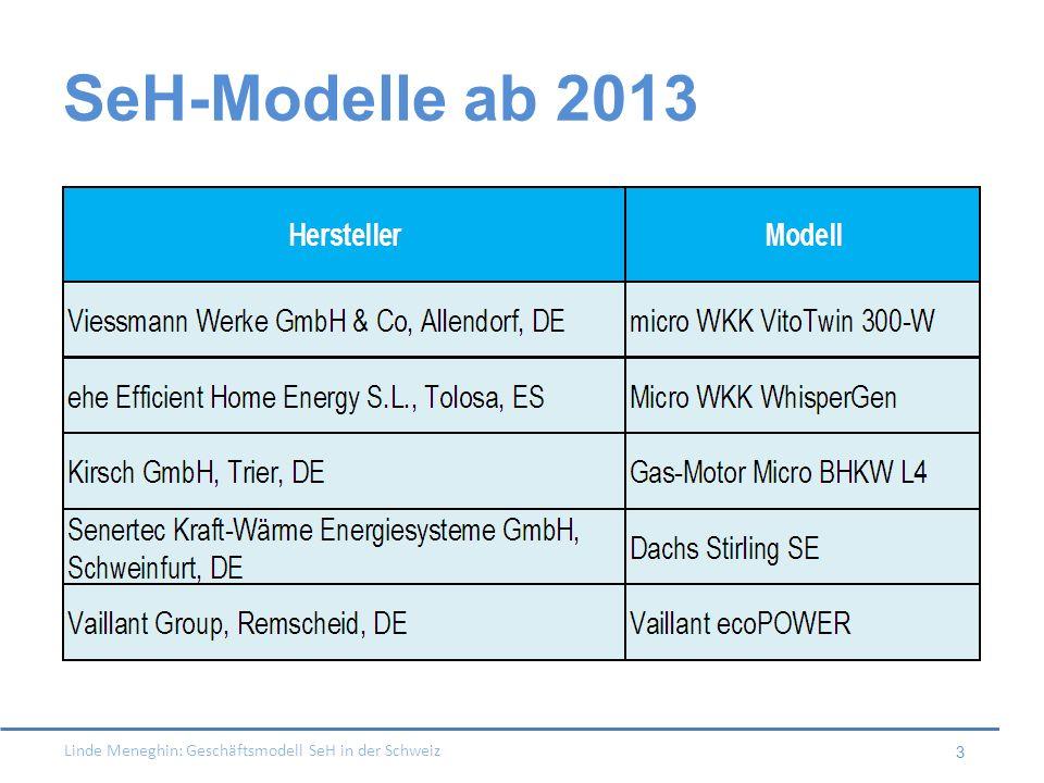 SeH-Modelle ab 2013