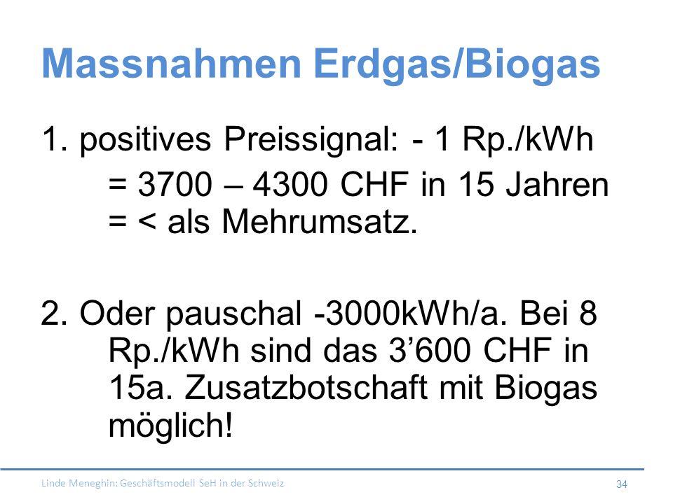Massnahmen Erdgas/Biogas