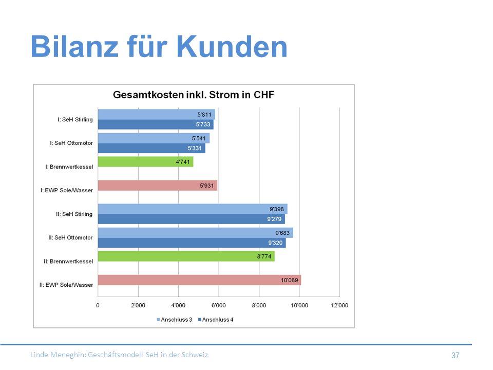 Bilanz für Kunden Beispiel ohne oben genannte Massnahmen von Erdgas!