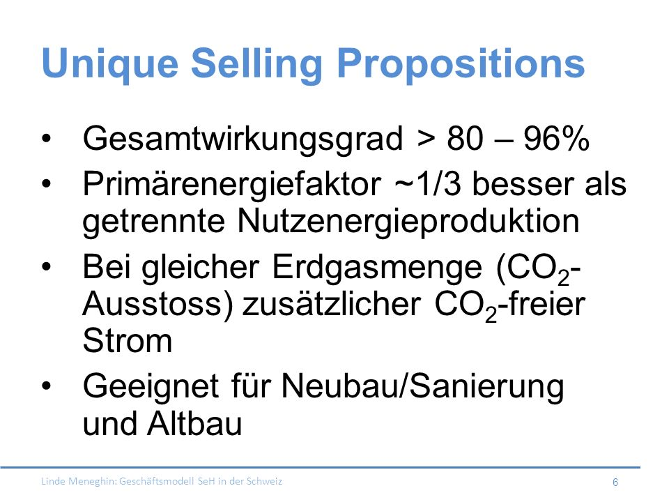 Unique Selling Propositions
