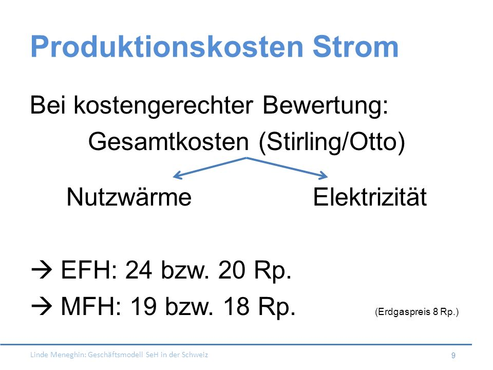 Produktionskosten Strom