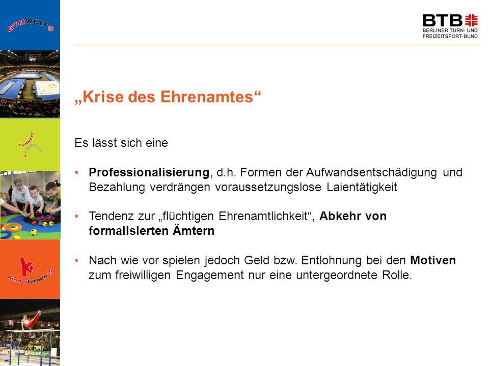 """Krise des Ehrenamtes"