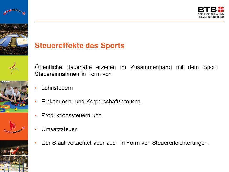 Steuereffekte des Sports