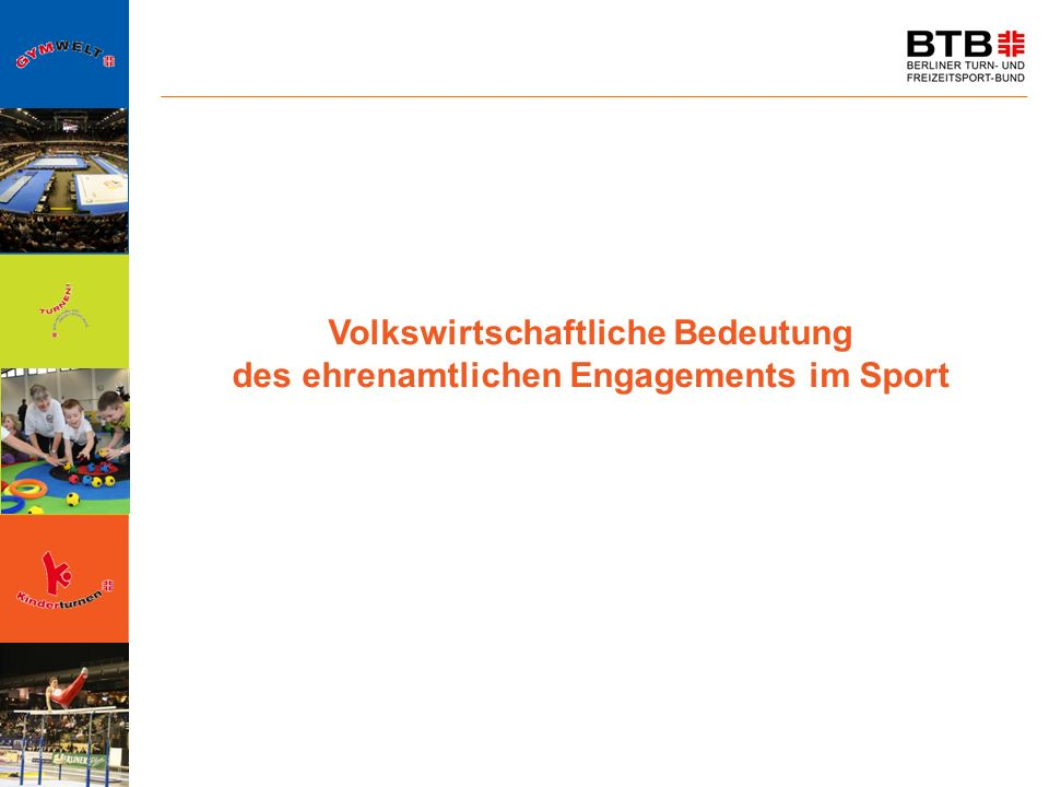 Volkswirtschaftliche Bedeutung des ehrenamtlichen Engagements im Sport