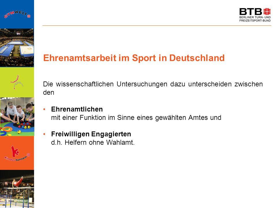 Ehrenamtsarbeit im Sport in Deutschland