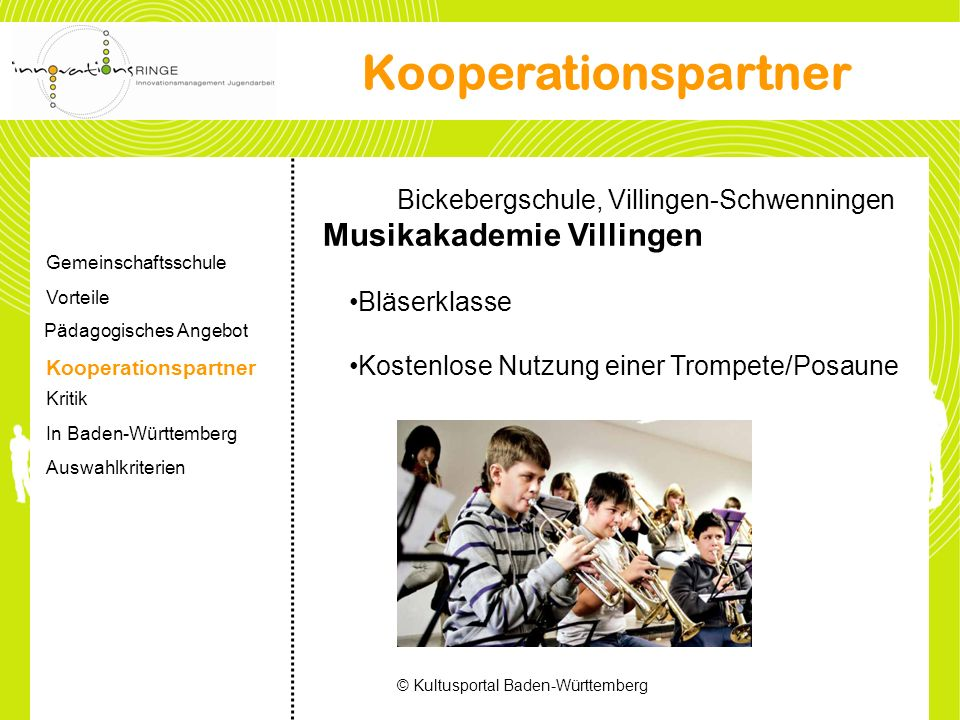 Kooperationspartner Bickebergschule, Villingen-Schwenningen