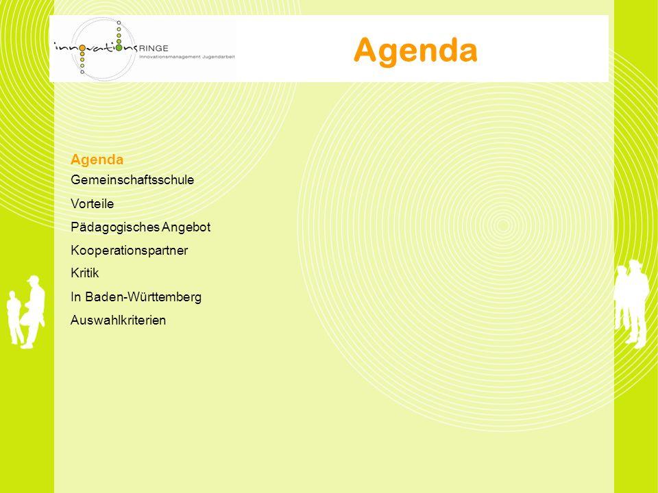 Agenda Agenda Gemeinschaftsschule Vorteile Pädagogisches Angebot