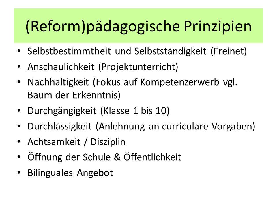 (Reform)pädagogische Prinzipien
