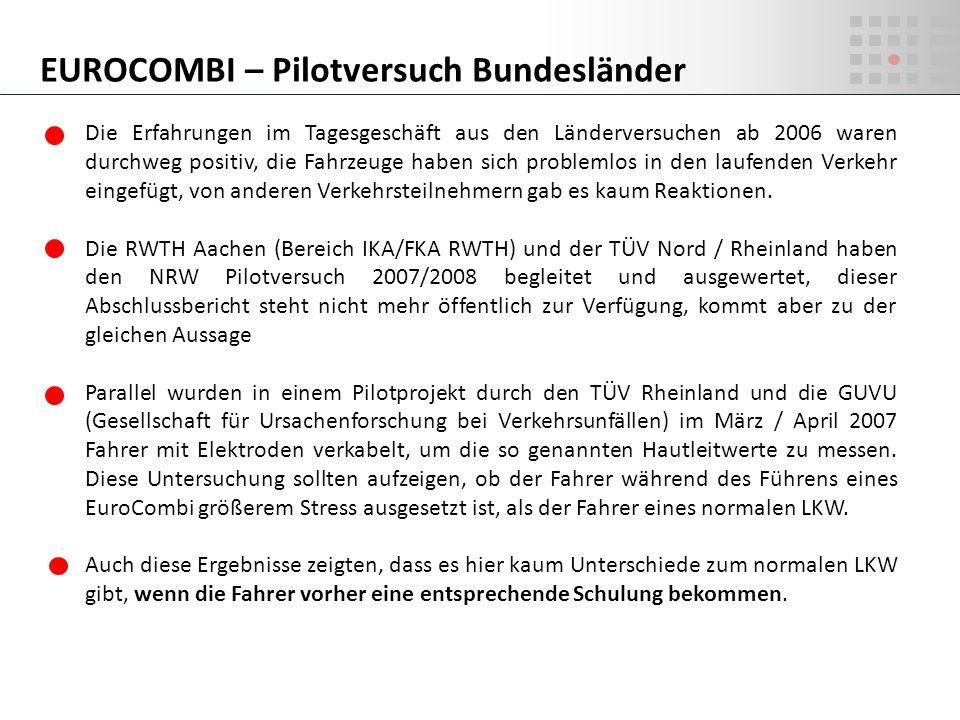 EUROCOMBI – Pilotversuch Bundesländer