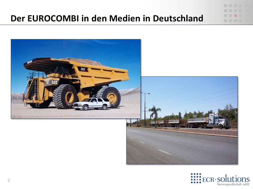 Der EUROCOMBI in den Medien in Deutschland