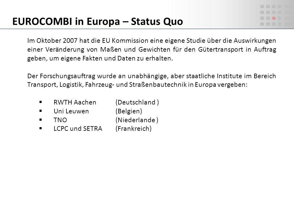 EUROCOMBI in Europa – Status Quo