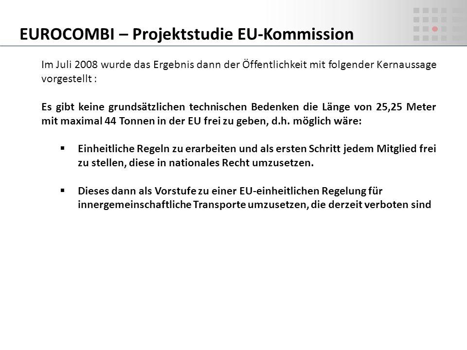 EUROCOMBI – Projektstudie EU-Kommission