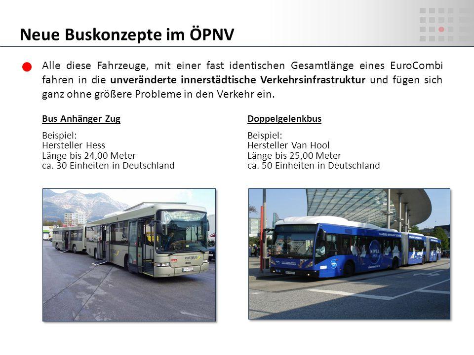 Neue Buskonzepte im ÖPNV