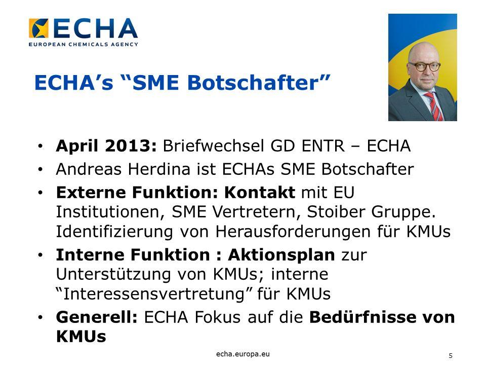 ECHA's SME Botschafter