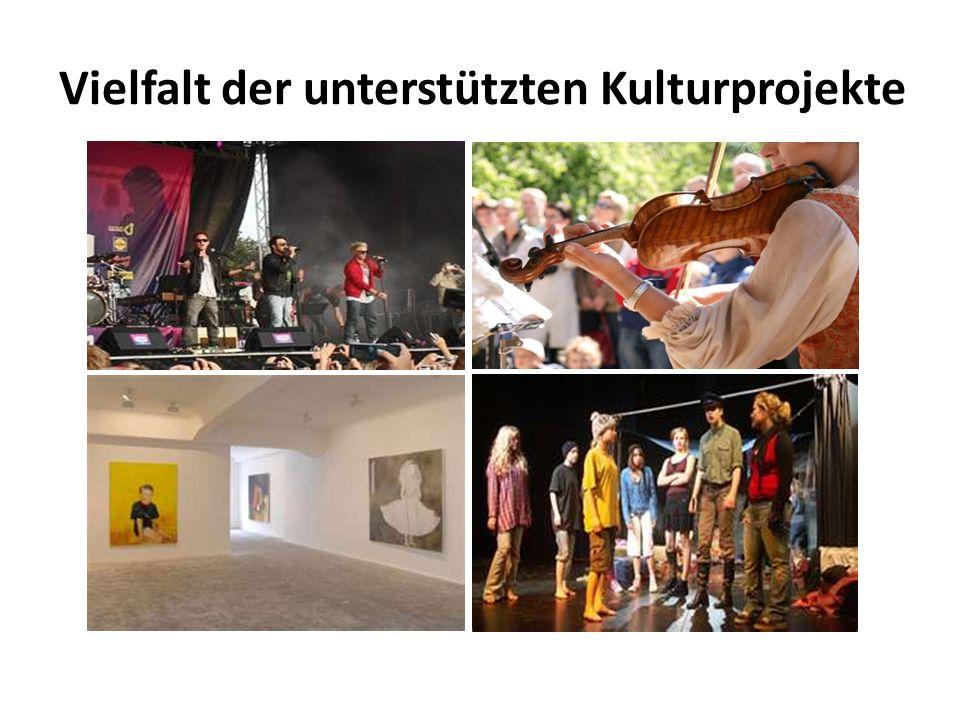 Vielfalt der unterstützten Kulturprojekte